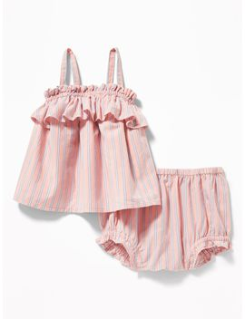 Ruffle Trim Tank & Bloomers Set For Baby by Old Navy