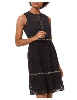 Mini Mod Floral Lace Sleeveless Dress by Michael Michael Kors