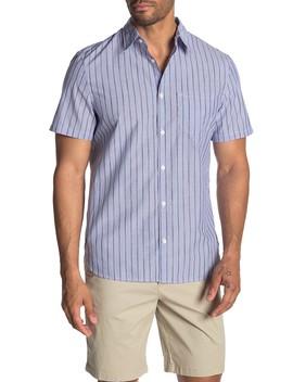 Striped Cotton Short Sleeve Shirt by Calvin Klein