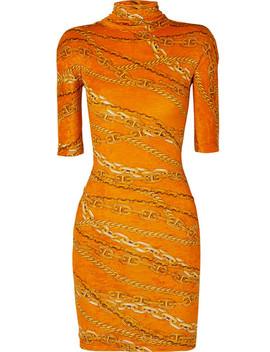 Printed Crushed Velvet Mini Dress by Balenciaga
