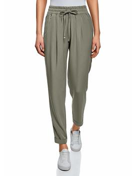 Oodji Collection Women's Trousers With Elastic Waistband And Drawstrings by Oodji Collection