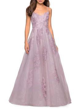 Lace A Line Evening Dress by La Femme