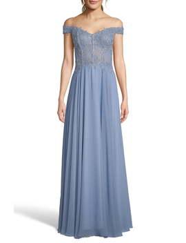 Off The Shoulder Embellished Dress by Xscape