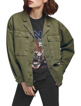 Sawyer Military Shirt Jacket by Anine Bing