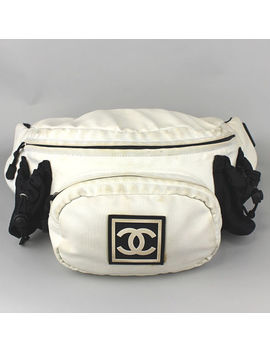 Chanel Sports Line Nylon Bum Bag Waist Pouch #42469 Free Shipping From Japan by Chanel