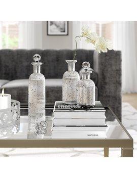 3 Piece Decorative Bottle Set by Wayfair