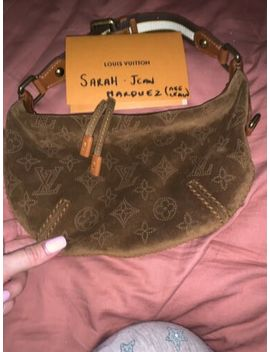 Louis Vuitton Rare Onatah Perforated Monogram Suede Hobo Bag 2006 by Louis Vuitton