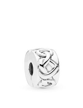Sterling Silver Knotted Hearts Clip by Pandora