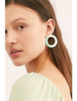 See Ya Side Hoop Earrings by Free People