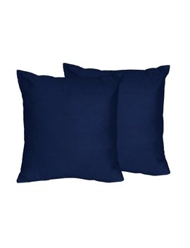 Solid Navy Blue Throw Pillows by Wayfair