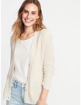 Shaker Stitch Button Front Cardi For Women by Old Navy