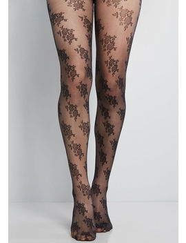 Blossoming Ensemble Floral Tights by Modcloth