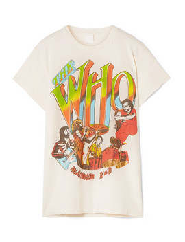 The Who Distressed Printed Cotton Jersey T Shirt by Made Worn