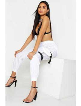 Buckle Pocket Detail Trouser by Boohoo