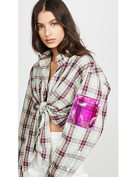 Oversized Plaid Shirt by Natasha Zinko