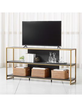 """Oxford 80"""" Black Wood Media Console by Crate&Barrel"""