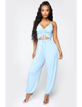 Easy Breeze Jumpsuit   Sky Blue by Fashion Nova