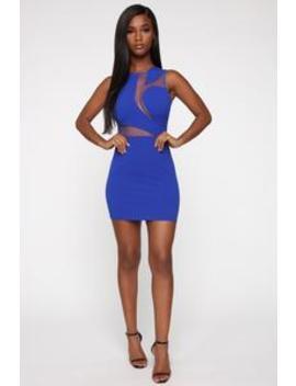 Work It In All Directions Mini Dress   Royal by Fashion Nova