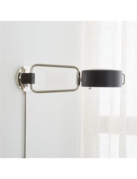 Axle Nickel Swing Arm Sconce by Crate&Barrel