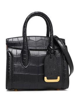 Heroine Croc Effect Leather Shoulder Bag by Alexander Mcqueen