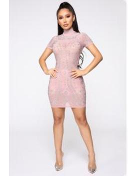 Ultra Babe Studded Dress   Mauve by Fashion Nova