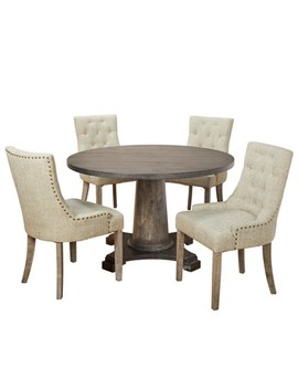 5pc Ariane Dining Set   Gray   Angelo:Home by Gray