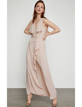 Slit Sleeve Overlay Gown by Bcbgmaxazria