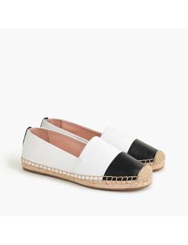 Espadrille Shoes In Canvas With Toe Cap by J.Crew