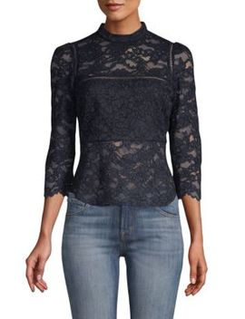 Georgie Lace Peplum Blouse by Marissa Webb
