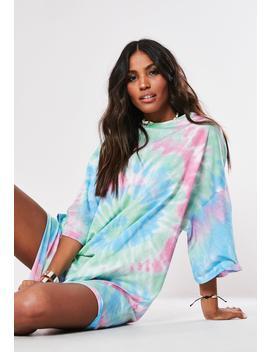 Tall Pink Tye Dye T Shirt Dress by Missguided