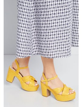 Boldest Intention Platform Heel by Modcloth