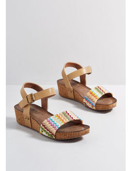 Personal Preference Cork Wedge by Modcloth