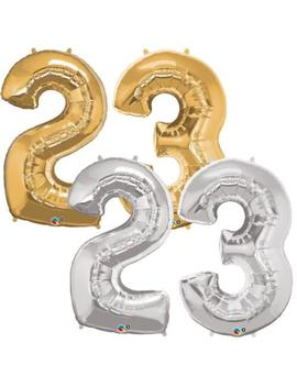 "Foil Helium Balloons Number 23,Sizes 16""32"" & 40"" Different Colors by Unbranded"