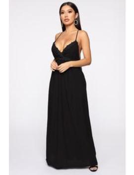 Fun Don't Stop Maxi Dress   Black by Fashion Nova