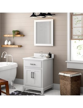 "Cloran 24"" Single Bathroom Vanity Set With Mirror by Wayfair"