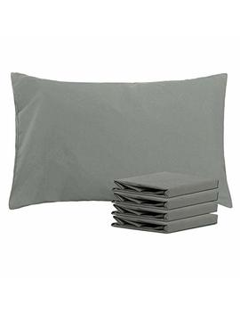 "Ntbay 100 Percents Brushed Microfiber Pillowcases Set Of 4, Soft And Cozy, Wrinkle, Fade, Stain Resistant, 20""X 30"", Dark Grey by Ntbay"