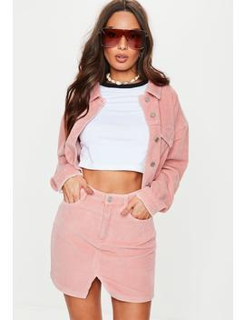 Pink Co Ord Cord Mini Skirt by Missguided