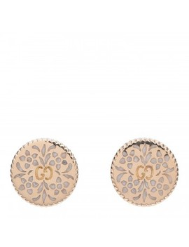 Gucci 18 K Yellow Gold Enamel Icon Blooms Earrings by Gucci