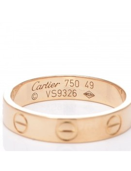 Cartier 18 K Yellow Gold 3.5mm Love Wedding Band Ring 49 4.75 by Cartier