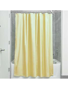 Inter Design Mildew Free Water Repellent Fabric Shower Curtain, 72 Inch By 72 Inch, Yellow by Inter Design