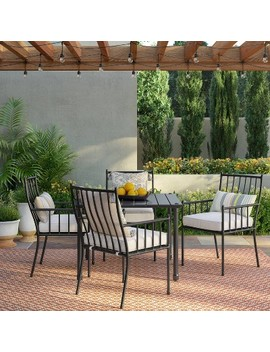 Fernhill 5pc Patio Dining Set   White   Threshold by White