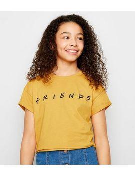 Girls Mustard Friends Logo T Shirt by New Look
