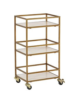 "Rivet Modern Metal Bar Cart, 30""H, Gold by Rivet"