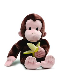 "Gund Curious George With Banana Plush Stuffed Animal, 20"" by Gund"