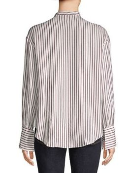 Striped Ruffled Top by Ellen Tracy