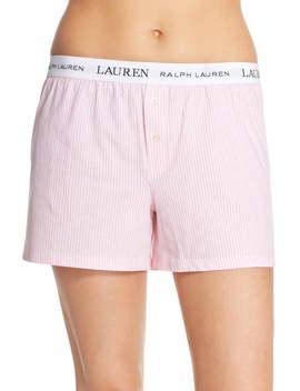 Logo Elastic Boxer Lounge Shorts by Lauren Ralph Lauren