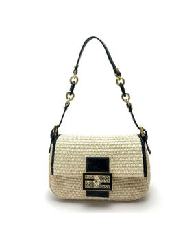 Authentic Fendi Mamma Baguette Accessory Pouch Mini Bag Hand Bag 8 Br180 by Fendi