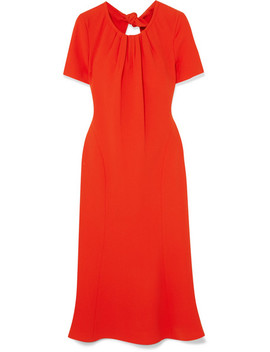 Rose Open Back Crepe Dress by Diane Von Furstenberg
