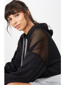 Spliced Mesh Hoodie by Cotton On
