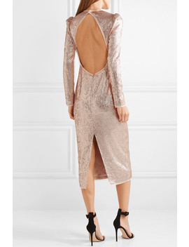 Jeane Open Back Sequined Crepe Midi Dress by Rachel Zoe